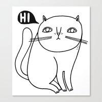 Shy Little Cat Canvas Print