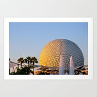 Epcot Ball Art Print