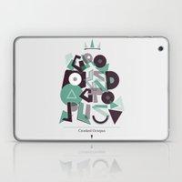 Crooked Typography Laptop & iPad Skin
