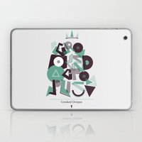 Crooked Typography Laptop & iPad Skin