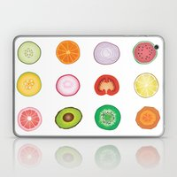 Fruit and Vegetable Collaged Art Laptop & iPad Skin