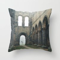 Gloomy Abbey Throw Pillow