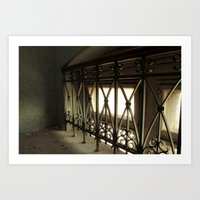 LOST PLACES - hidden bridge Art Print