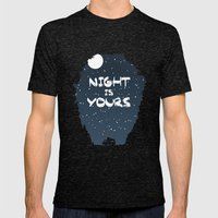 Night Is Yours Mens Fitted Tee Tri-Black SMALL