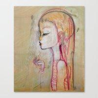 Tornado Lady Canvas Print