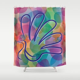 Shower Curtain - Peacock - Five-finger gloves - Mari Biro