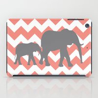 Chevron Elephants iPad Case