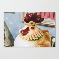 Kitchen Rooster Canvas Print