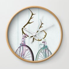 Bicycles in Love Wall Clock