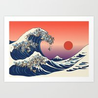 The Great Wave Of Englis… Art Print