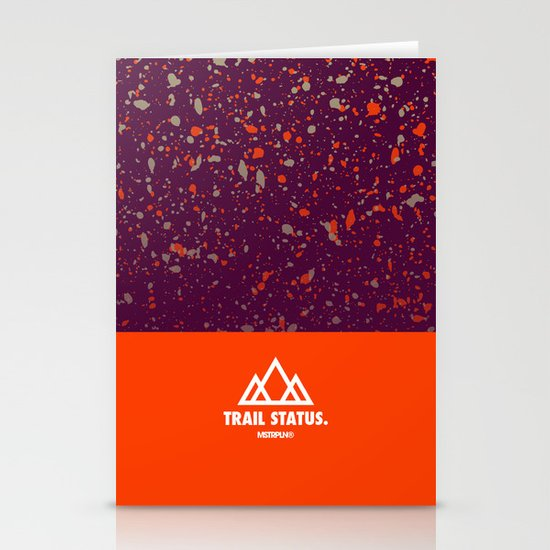 Trail Status / Orange Stationery Card