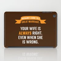 Wife is Always Right. iPad Case