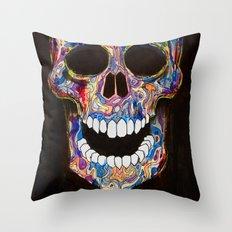 Chromatic Skull 02 Throw Pillow