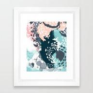 August - Abstract Modern… Framed Art Print