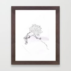 lack of realization  Framed Art Print