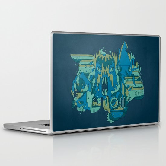 Deep Blue Sea Laptop & iPad Skin