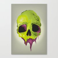 Liquid Skull Canvas Print