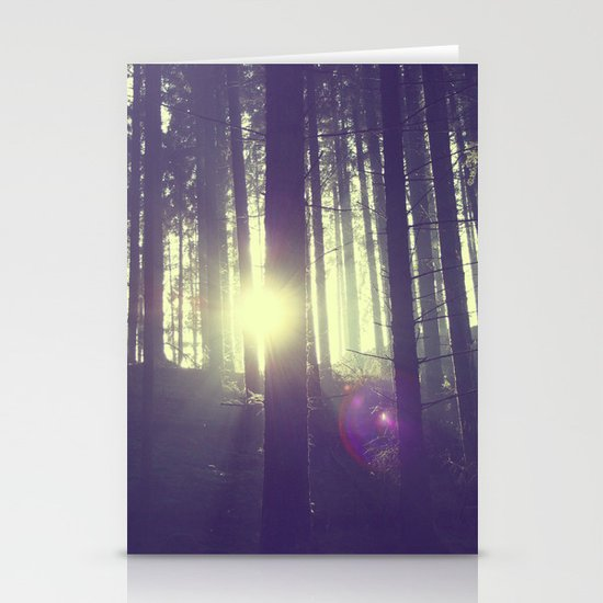 Forrest sun. Stationery Card