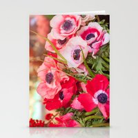 Anemones  and Bumblebee 5946 Stationery Cards