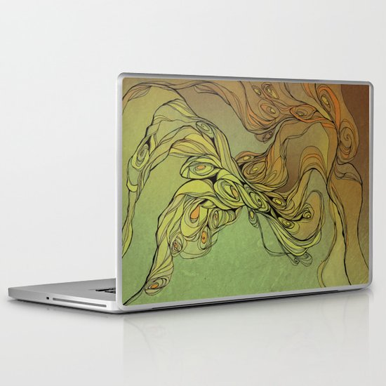 abstract floral composition Laptop & iPad Skin