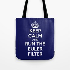 Keep Calm and Run the Euler Filter Tote Bag