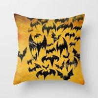 Bats in the Belfry Throw Pillow