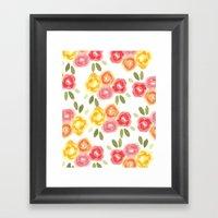 Vintage Florals Framed Art Print
