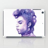Prince Portrait Purple Watercolor  iPad Case