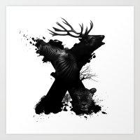 X ANIMALS Art Print
