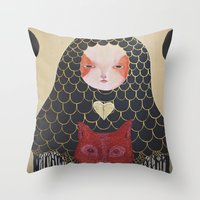 In the Thicket Hides a Foxy Spirit Throw Pillow