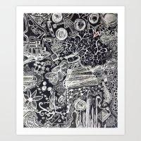White/Black #2  Art Print
