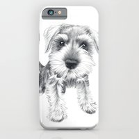 iPhone & iPod Case featuring Schnozz the Schnauzer by Beth Thompson