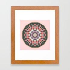 Wax Mandala Tulips Framed Art Print