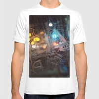 Scraped Mens Fitted Tee White SMALL