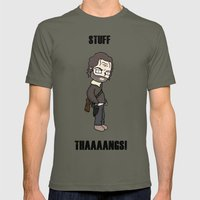Stuff and Thaaaaangs Mens Fitted Tee Lieutenant SMALL