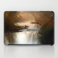 Foggy Alum Creek on a chilly fall morning iPad Case