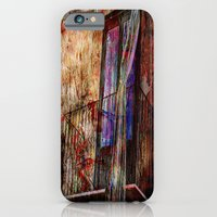 iPhone Cases featuring Abstract Vintage Balcony by Lo Coco Agostino