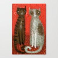 SALT & PEPPER CATS Canvas Print