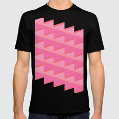 Pink Ascent SMALL Mens Fitted Tee Black