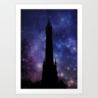 Water Tower-Victorian Art Print