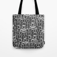Waves Black And White Tote Bag