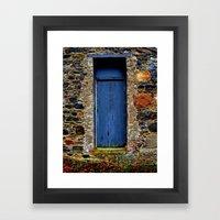The Blue Door Of Ballyma… Framed Art Print