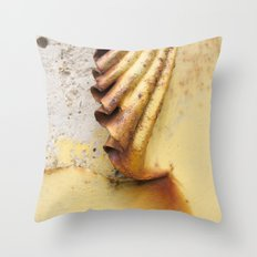 Yellow Push Throw Pillow