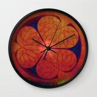 Wall Clock featuring Mandala 3 by Neelie