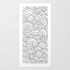 Sea of Lines 2 Art Print