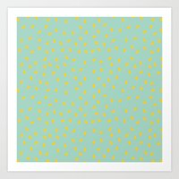 Yellow Pit On Mint /// W… Art Print