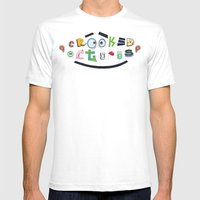 Smiling Octopus Mens Fitted Tee White SMALL
