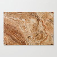 Gold Clouded Marble Texture Canvas Print