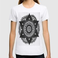 Flower Mandala Number 2 Womens Fitted Tee Ash Grey SMALL