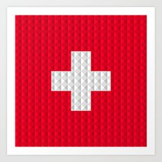 Swiss flag by Qixel Art Print